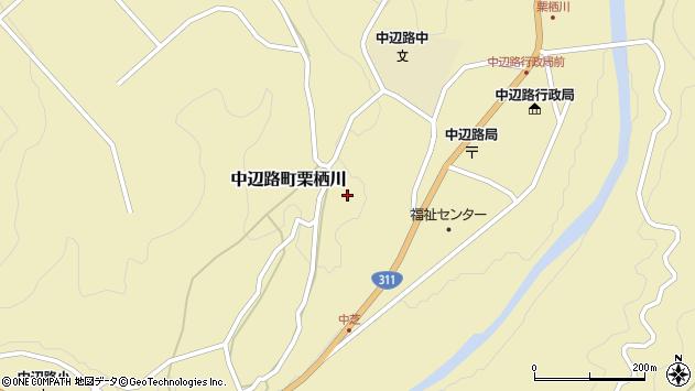 〒646-1421 和歌山県田辺市中辺路町栗栖川の地図