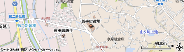 福岡県鞍手郡鞍手町周辺の地図