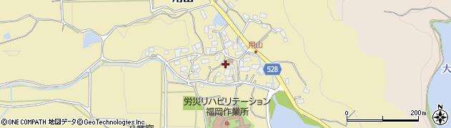 福岡県宗像市用山周辺の地図