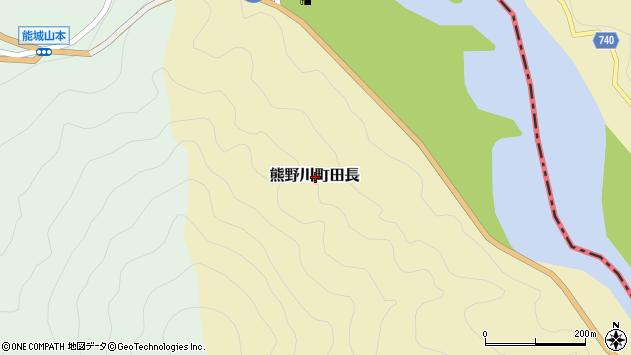 〒647-1212 和歌山県新宮市熊野川町田長の地図