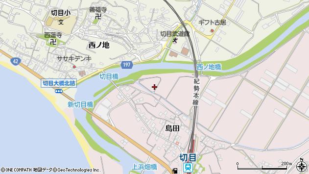 〒649-1527 和歌山県日高郡印南町島田の地図