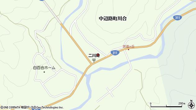 〒646-1417 和歌山県田辺市中辺路町川合の地図
