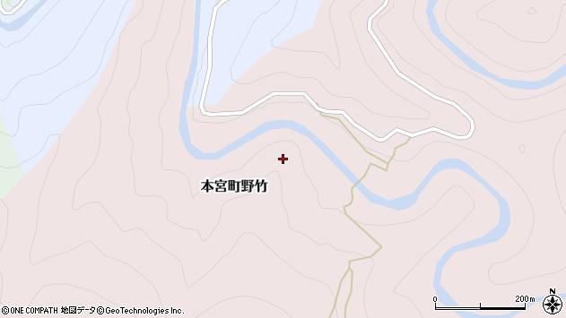 〒647-1724 和歌山県田辺市本宮町野竹の地図