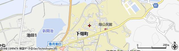 福岡県北九州市八幡西区下畑町周辺の地図