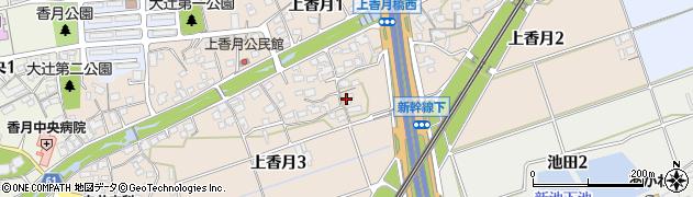 福岡県北九州市八幡西区上香月周辺の地図