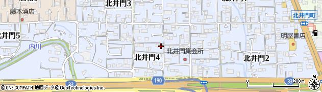 愛媛県松山市北井門周辺の地図