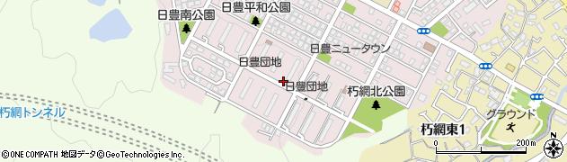日豊団地周辺の地図