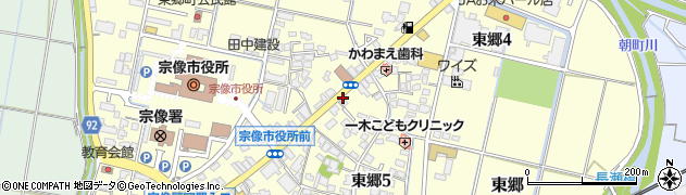 福岡県宗像市東郷周辺の地図