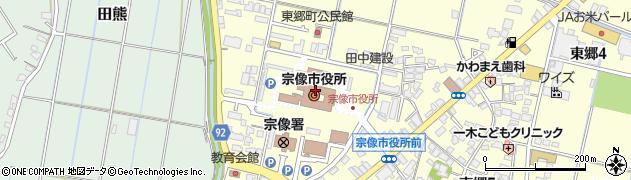 福岡県宗像市周辺の地図