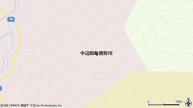 〒646-1436 和歌山県田辺市中辺路町熊野川の地図