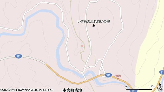 〒647-1723 和歌山県田辺市本宮町皆地の地図