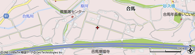 福岡県北九州市小倉南区合馬周辺の地図
