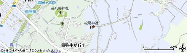 松尾神社周辺の地図