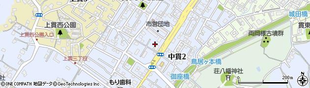 福岡県北九州市小倉南区中貫周辺の地図