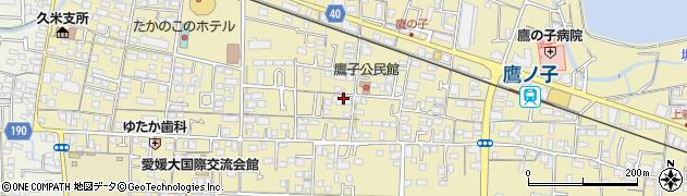 愛媛県松山市鷹子町周辺の地図