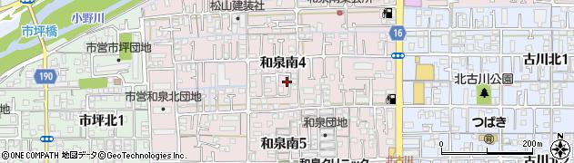 愛媛県松山市和泉南周辺の地図
