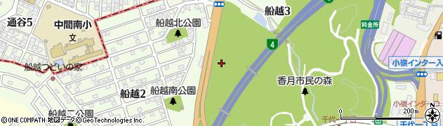 福岡県北九州市八幡西区船越周辺の地図