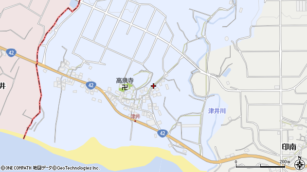 〒649-1535 和歌山県日高郡印南町津井の地図