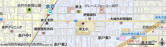 愛媛県松山市余戸東周辺の地図