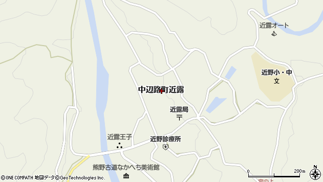 〒646-1402 和歌山県田辺市中辺路町近露の地図