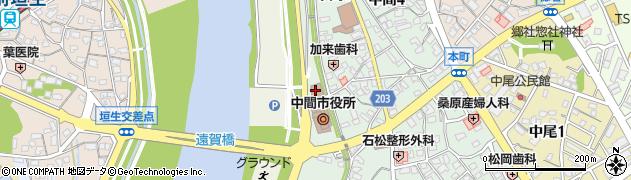 中間市役所 選挙管理委員会事務局周辺の地図