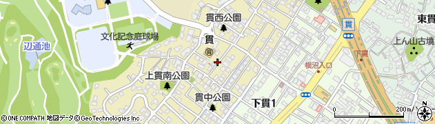 福岡県北九州市小倉南区上貫周辺の地図