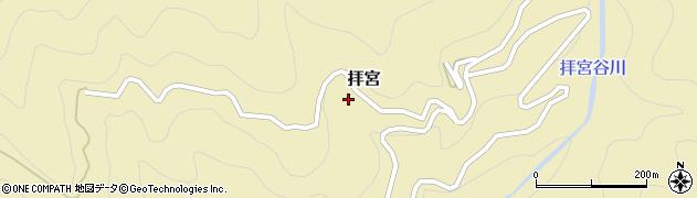 徳島県那賀郡那賀町拝宮杉サコ周辺の地図