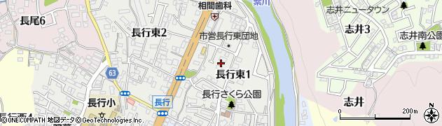 福岡県北九州市小倉南区長行東周辺の地図