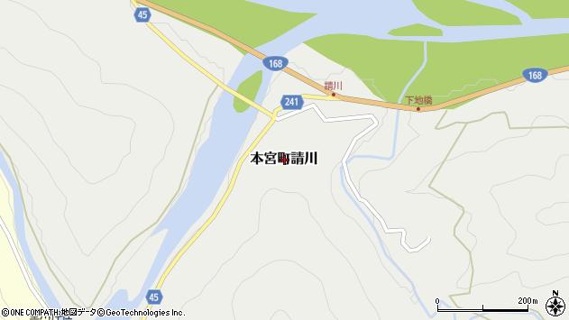 〒647-1703 和歌山県田辺市本宮町請川の地図