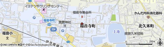 愛媛県松山市福音寺町周辺の地図