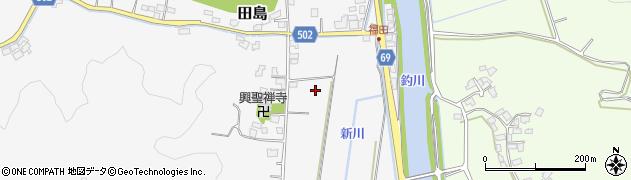 福岡県宗像市田島本村周辺の地図