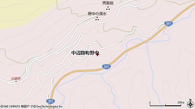 〒646-1401 和歌山県田辺市中辺路町野中の地図