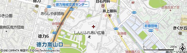 福岡県北九州市小倉南区徳力周辺の地図