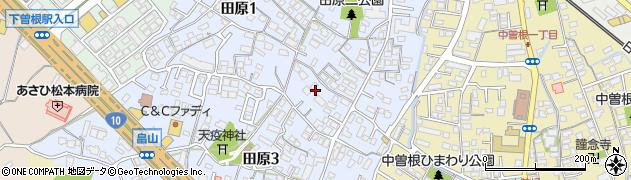 福岡県北九州市小倉南区田原周辺の地図