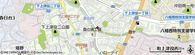 福岡県北九州市八幡西区下上津役周辺の地図