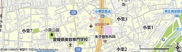 愛媛県松山市小栗周辺の地図