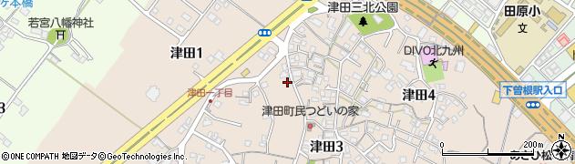 福岡県北九州市小倉南区津田周辺の地図