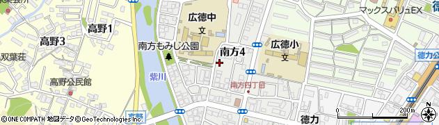 福岡県北九州市小倉南区南方周辺の地図