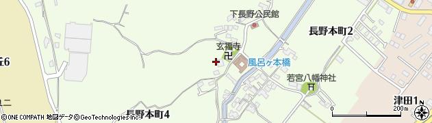 福岡県北九州市小倉南区長野本町周辺の地図