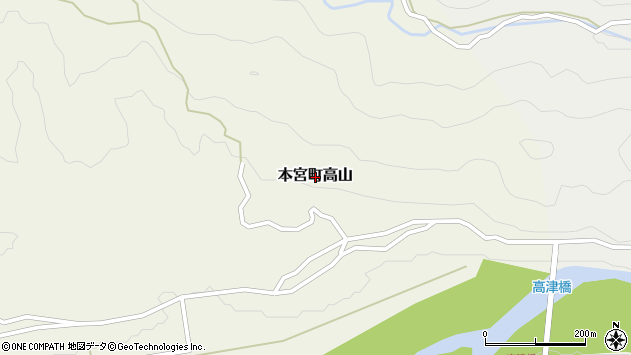 〒647-1705 和歌山県田辺市本宮町高山の地図