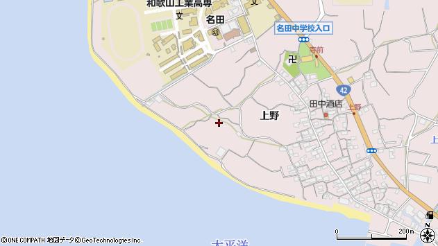〒644-0022 和歌山県御坊市名田町上野の地図