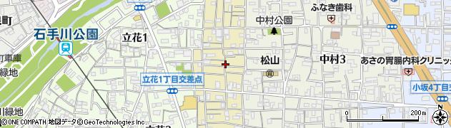 愛媛県松山市祇園町周辺の地図