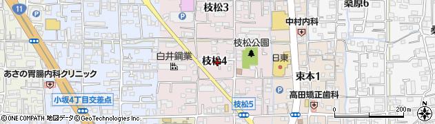 愛媛県松山市枝松周辺の地図
