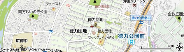 福岡県北九州市小倉南区徳力団地周辺の地図