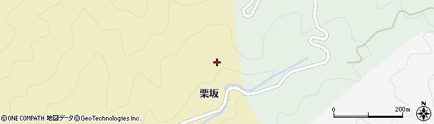 徳島県那賀郡那賀町拝宮栗坂周辺の地図