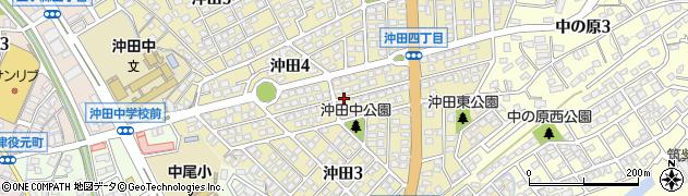福岡県北九州市八幡西区沖田周辺の地図