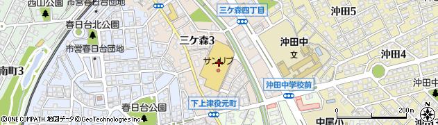 株式会社井筒屋 三ヶ森ショップ周辺の地図