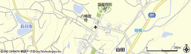 福岡県宗像市山田周辺の地図