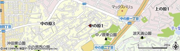 福岡県北九州市八幡西区中の原周辺の地図