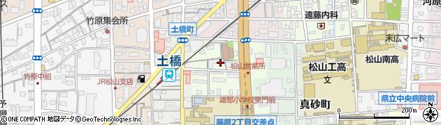 愛媛県松山市藤原町周辺の地図